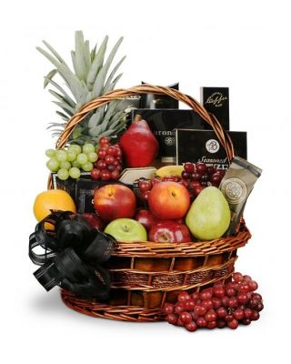 Deepest Sympathy Fruit and Gourmet Basket