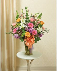 Beautiful Blessings Vase Arrangement - Pastel - Peach