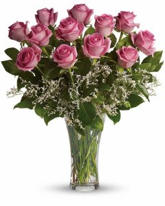 Make Me Blush - Dozen Long Stemmed Pink Roses