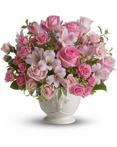 Pink Potpourri Bouquet with Roses