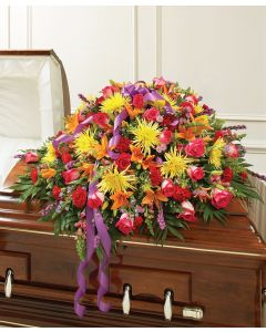 Cherished Memories Half Casket Cover - Bright